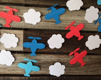 Airplane Party Garland - Baby Shower, Birthday Party, First Birthday, Photo Prop, Party Decorations