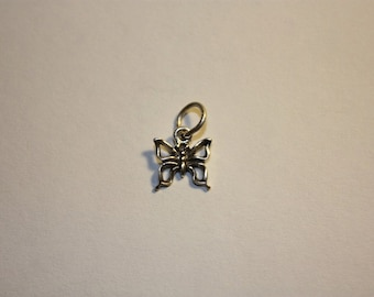 Sterling Silver Butterfly Mini Charm