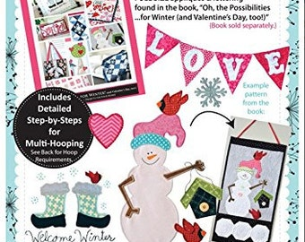 Machine Embroidery CD: Oh, the Possibilities for Winter (and Valentine's Day, too!) Companion CD