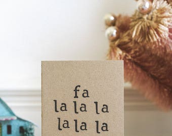Fun Christmas Card - Fa la la   Christmas Carol Singing   Xmas   Typography