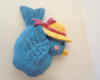 Blue Bird Shank Button