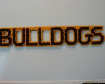 Bulldogs in Handmade, Needlepoint Magnets