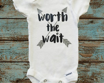 Worth the Wait Onesie® with Gray Arrows