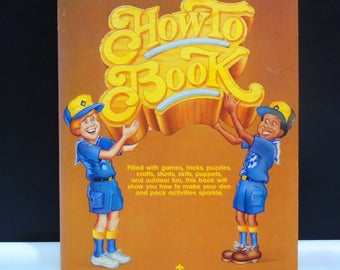 Boy Scouts of America Cub Scout Leader How to Book Tricks Crafts Stunts Skits Outdoor Fun 1988 Paperback Kids Activity Book