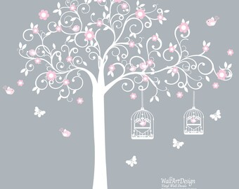 Tree Decals, wall decals, swirl wall decals, vinyl wall decal, nursery wall decal, nursery wall sticker