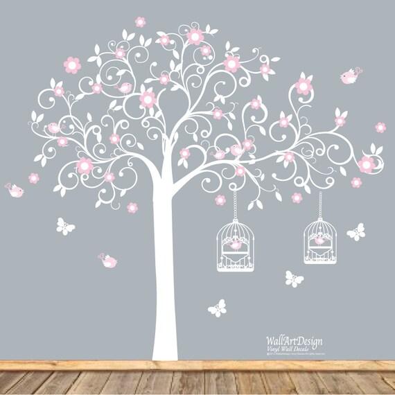 Baum Aufkleber, Wandtattoo, Windung, Vinyl Wand Aufkleber, Kinderzimmer  Wand Aufkleber, Wandtattoo, Wandaufkleber Kinderzimmer