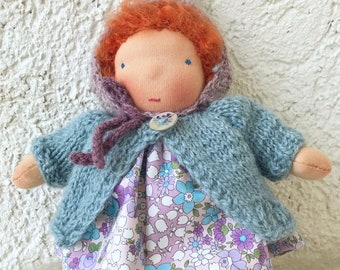 Waldorf doll ( 7 inch-18 cm). Pocket doll. Handmade doll.