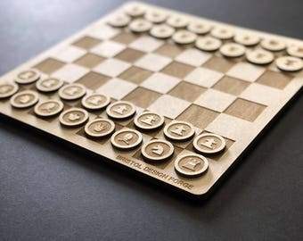 Minimal Chess Set - Laser Cut Chess Set