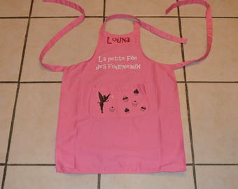 Personalized kids apron (cooking, gardening, painting) - Message and/or choose decor
