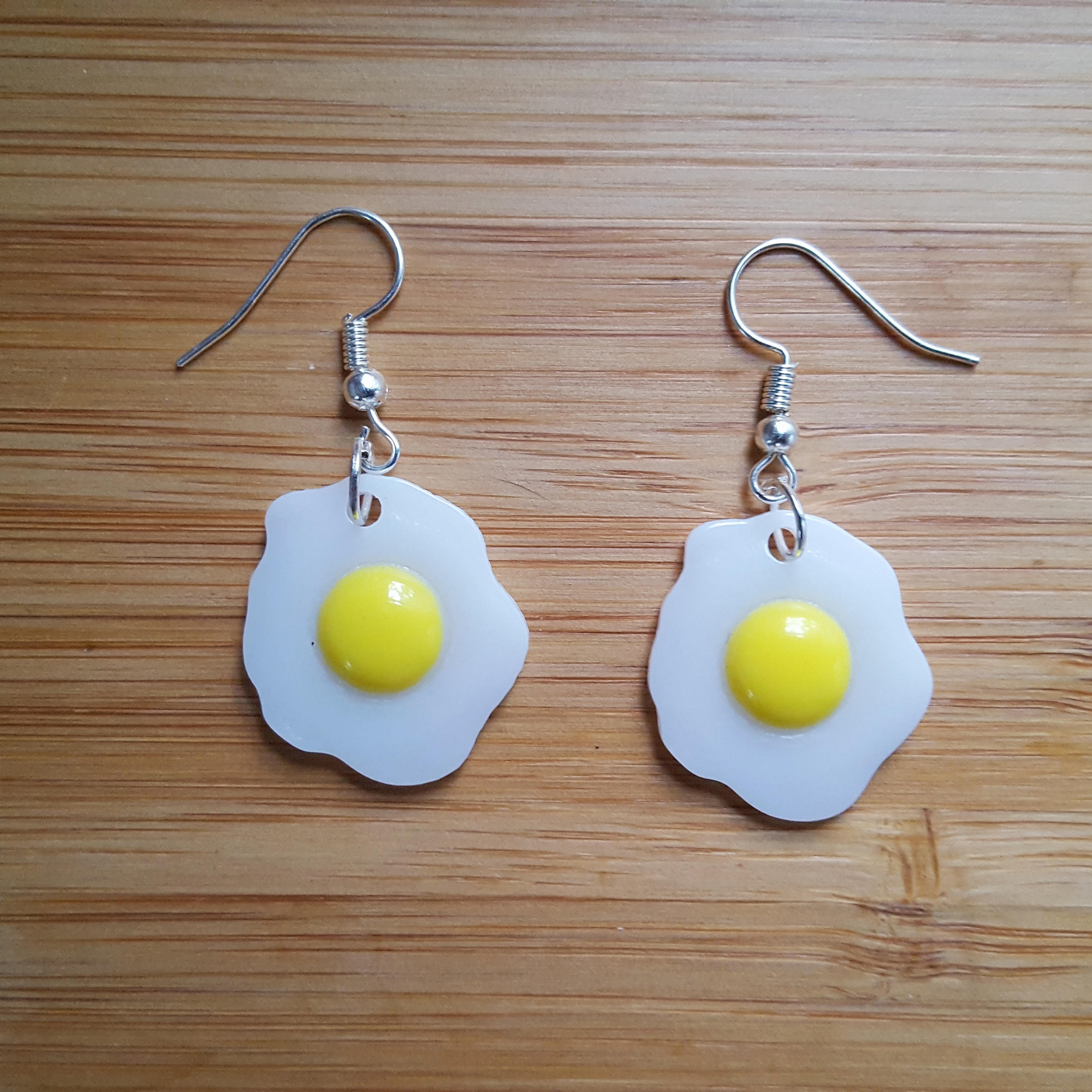 Quirky fried egg earrings quirky easter gift for her kawaii zoom negle Gallery