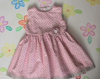 Summer Girl dress in cotton in small flowers