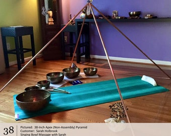 Pyramid Healing Technique. Healing Pyramid for Sale - 38 Inch Apex.