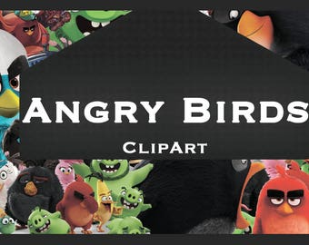 Angry birds 40 ClipArt - Digital , PNG, 40 image, picture,  oil painting, drawing,llustration, art , birthday,handicraft