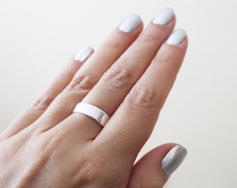 Thick Silver Ring / Simple Silver Ring / Wedding Band