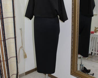 Kleid, Midi Dress, Women Dress, Black Dress, Sleeved Dress, Formal Dress, Elegant Dress