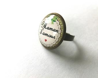 love MOM ring