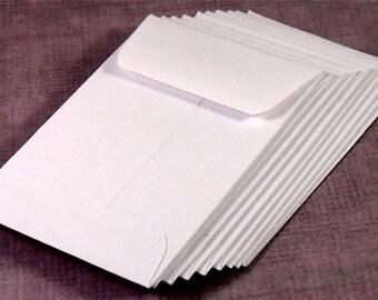 Coin Envelopes, Mini, White Set of 20