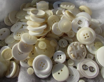 Ivory and Cream Button Assortment