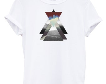 Mountain Triangle Funny Fashion Tshirt Hipster Mens Womens Swag Brand New T Shirt