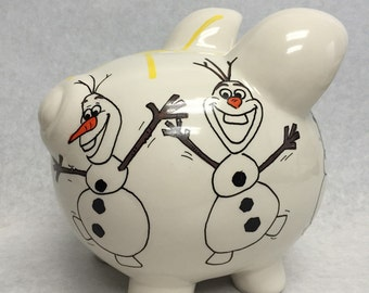 Personalized Piggy Bank Frozen's Olaf