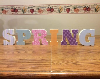 Spring, spring decorations, spring letters,
