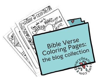 Hand-drawn Bible Verse Coloring Pages Collection from the Marydean Draws Blog   52 Coloring Pages (with some in Spanish)