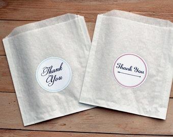 25 Custom Treat Bags / Candy Bags / Favor Bags / Glassine Bags / Paper Bags / Wedding Favor / Cookie Bags / Custom Wedding Sticker / Donuts