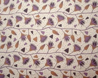 Scandinavian linen fabric flower print fabric Scandinavian design Scandinavian Fabric Swedish fabric