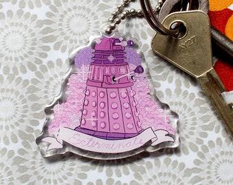 Doctor Who Dalek keychain charm