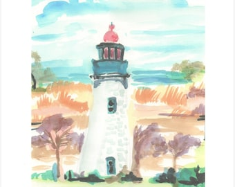 Old Point Comfort Lighthouse print