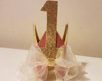 Bow and Ruffle Baby Crown