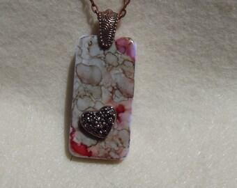 Jewelry, necklace, domino, copper chain