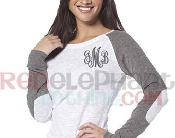Personalized Baseball Raglan Shirt, Monogram Raglan Tee, Monogram Raglan Shirt, Womens Raglan Shirt, Baseball Shirt Monogram