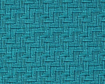 Michael Miller Just My Type by Patty Young Crossgrain in Navy/Aqua