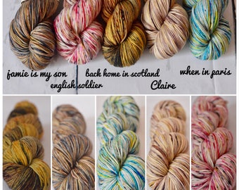 Fingering weight - The Outlandish Collection - Hand dyed speckled yarn - Stellina