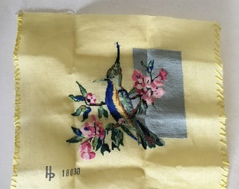 Unfinished embroidery