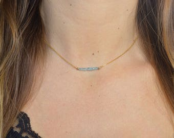 Topaz necklace * and fine chain