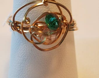 Delicate Gold Bead Ring