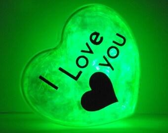 GlowHeart (I love you)- cool, gadgets, geek, gift for him, husband, wife, boyfriend, birthday