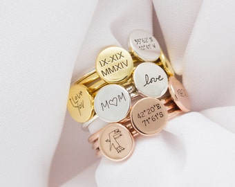 carat finger gold plate ring two rings name white