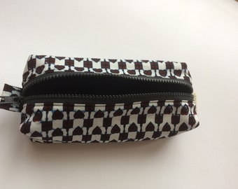 Pen pocket in African print fabric/makeup bag/ritstas/back to school/hearts
