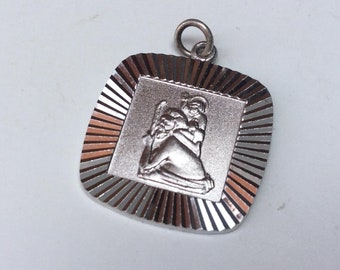 1970s Sterling Silver Saint Christopher Pendant
