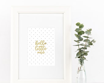 Hello Little One | INSTANT DOWNLOAD digital art print