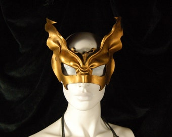 Gilded Victorian Vampire leather mask
