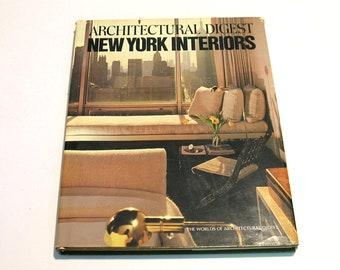 Architectural Digest New York Interiors 1979 Vintage Book