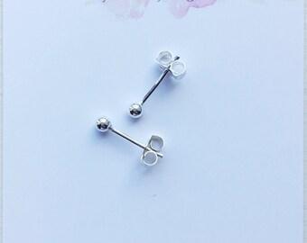 sterling silver dainty earrings, tiny stud earrings, silver small stud earring, everyday earrings for women, small studs, 925 silver earring