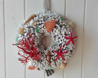 Beach house unique accent, nautical wreath, Italian gift for professionals and teachers, sea theme gift for sea lover friend, boat decor