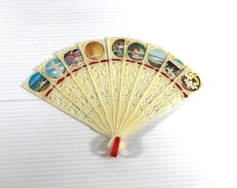 The Ozarks Souvenir Fan, Vintage Handheld Fan, Ozarks fan, vintage folding hand held fan, landmarks of the Ozarks, hand held folding fan