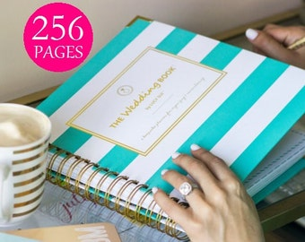 Keepsake Wedding Planner Book, Keepsake Wedding Book, Monogrammed Wedding Planning Guide, Engagement Gift, Maid of Honor, Wedding Organizer