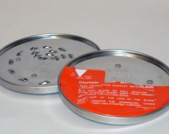 x2 Vintage Cuisinart Food Processor Shredder Cutter Replacement DLC-10 DLC-8  / 844TX & 837TX Metal Blades Discs
